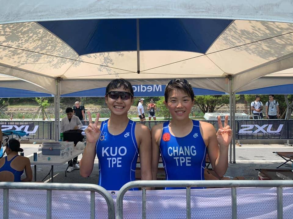 屏科大鐵人隊 努力邁向奧運殿堂 左:郭家齊、右:張綺文